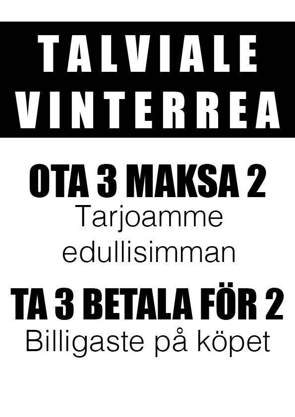 """Jo TASARAHALLA olevat talven tuotteet myydään """" Ota 3 maksa 2 """" eli me  tarjoamme sinulle edullisimman! Tämä on voimassa ainoastaan DOPP Vaasassa! 43c10916e6"""