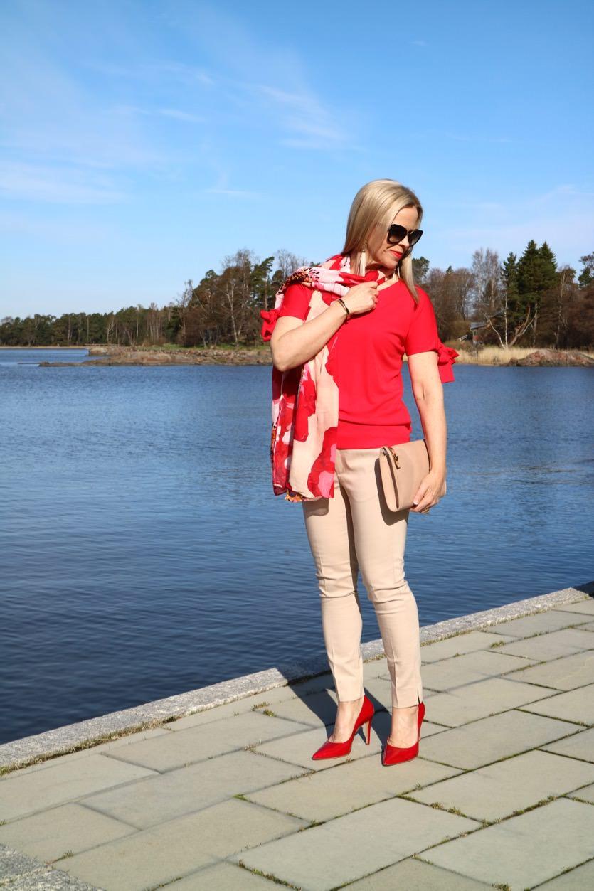 Housuasju 2: Beiget housut ja niihin sopivia energisiä yläosia