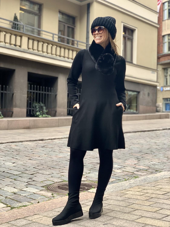 Toppispäivät: Musta tyylikäs untuvatakki