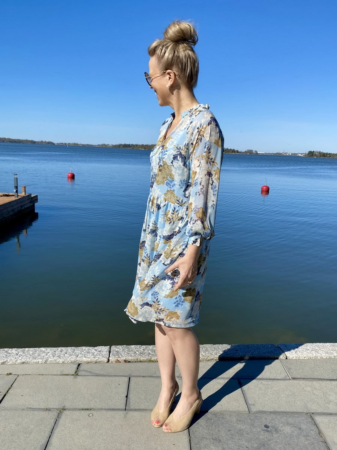 Eerika mekko taivaansininen in 2020 | Dresses, Dresses with