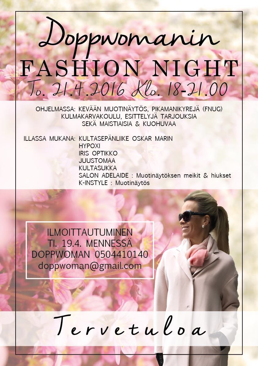 Fashion night 21.4.klo. 18-21.00