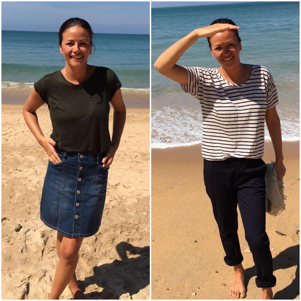 Ihanat naiset Thaimaan rannalla