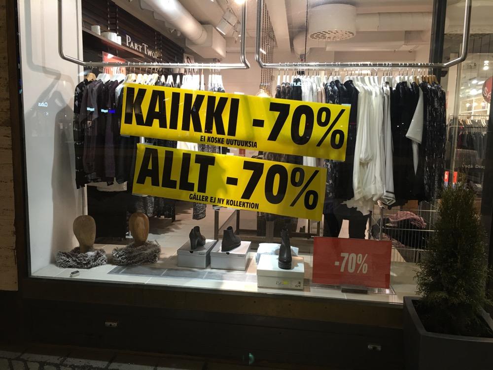 W I N T E R S A L E – 70 %